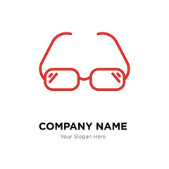 Glasses company logo design template, colorful vector icon for your business, brand sign and symbol