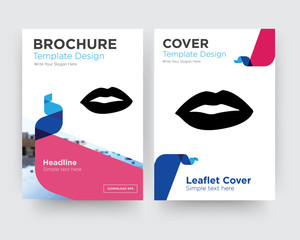 lips brochure flyer design template