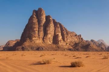 The mountain in Wadi Rum Desert, Jordan.