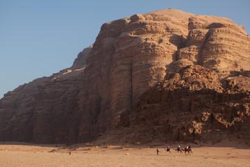 Camel caravan in Wadi Rum Desert, Jordan.