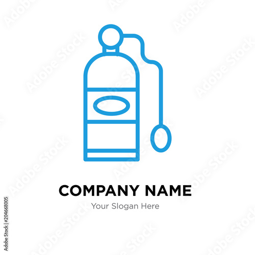 Oxygen Tank Company Logo Design Template Colorful Vector Icon For