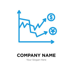 volatility company logo design template, colorful vector icon for your business, brand sign and symbol