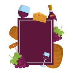 emblem design with wine alcohol beverage