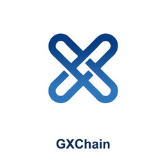 GXChain Cryptocurrency Coin Sign Isolated