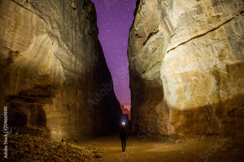 new product e9ec9 14ab9 The girl standing in the Siq over the night, Petra, Jordan.