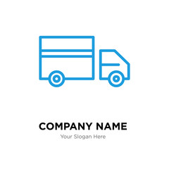 Truck company logo design template, colorful vector icon for your business, brand sign and symbol