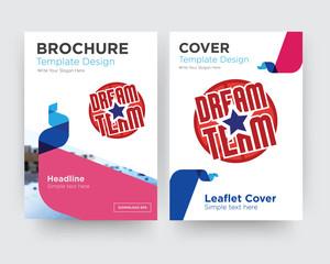 dream team brochure flyer design template