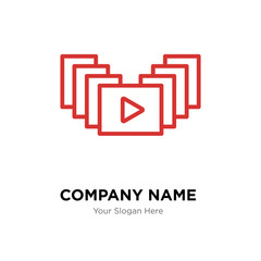 video gallery company logo design template, colorful vector icon for your business, brand sign and symbol