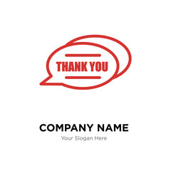 thank you company logo design template, colorful vector icon for your business, brand sign and symbol
