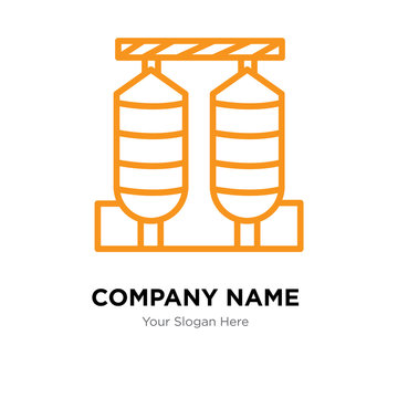 silos company logo design template, colorful vector icon for your business, brand sign and symbol