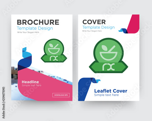 Pharmacy Brochure Flyer Design Template Stock Image And Royalty