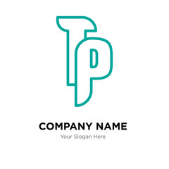 tp company logo design template, colorful vector icon for your business, brand sign and symbol