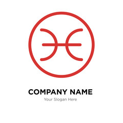 Pisces company logo design template, colorful vector icon for your business, brand sign and symbol