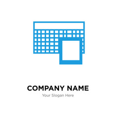 Calculator company logo design template, colorful vector icon for your business, brand sign and symbol