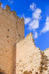 Oreja castle in Castilla la Mancha near Aranjuez  Madrid city Spain. Oreja is an abandoned village in spain. With his beautiful castle it is a good travel from Aranjuez the nearly city.