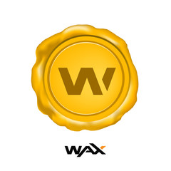 Wax Cryptocurrency Coin Sign Isolated