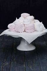 Swirled meringue