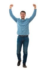 winner hands up