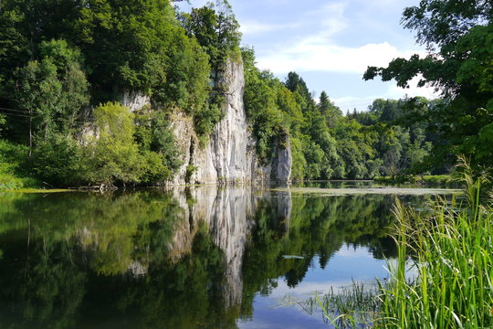 Felsen an der Donau in Gutenstein.