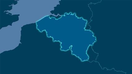 Belgium, solid - light glow