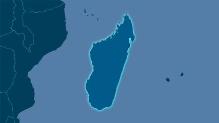 Madagascar, solid - light glow
