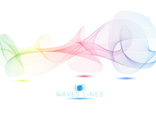 colorful light waves line bright abstract