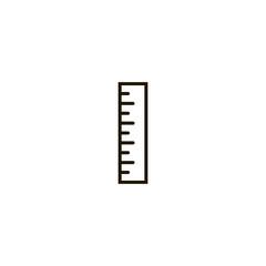 ruler icon. sign design