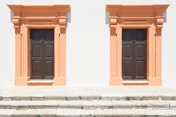 Gallipoli, Apulia - Two salmon middle aged barn doors