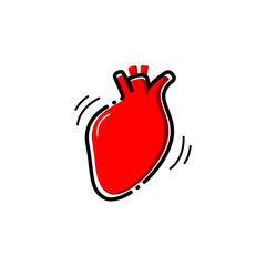 Heart vector icon.
