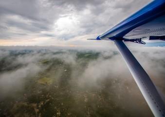 Aerial picture of the Okavango Delta in Botswana during summer period