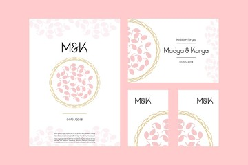 Wedding card designs vector