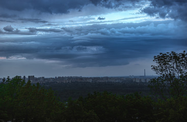 Kyiv landscape view in the evening