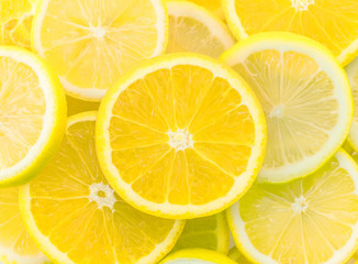 Green cut lemon Fruit background
