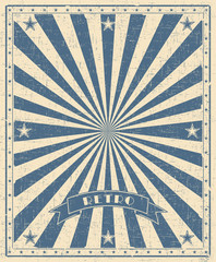 Grunge circus vintage  background. Vertical retro poster.