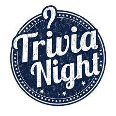Trivia night grunge rubber stamp