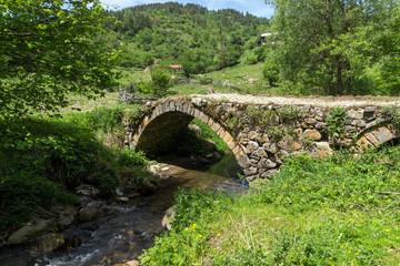 Stone bridge over Fotinovo River near village of Fotinovo in Rhodopes Mountain, Pazardzhik region, Bulgaria