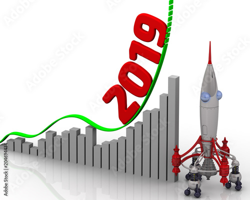 """Growth Chart For 2019 Year. Graph Of Rapid Growth With"