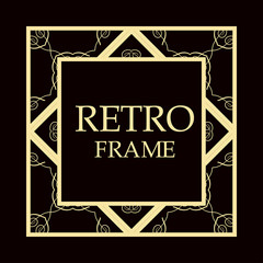 Retro ornamental frame