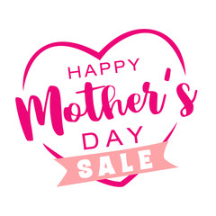 Happy Mother's Day Sale lettering.