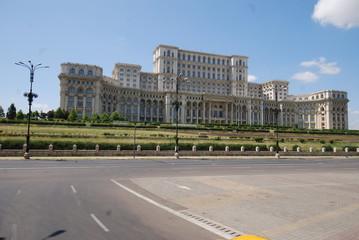 Romania; Palace of the Parliament; landmark; building; palace; sky