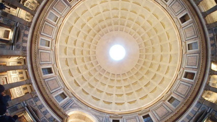 Pantheon; dome; landmark; building; ceiling