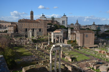 Roman Forum; historic site; ancient rome; city; ancient history