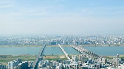 Wall Mural - 都市風景 大阪市  タイムラプス