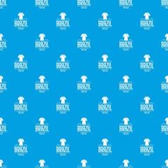 Brazil team pattern vector seamless blue