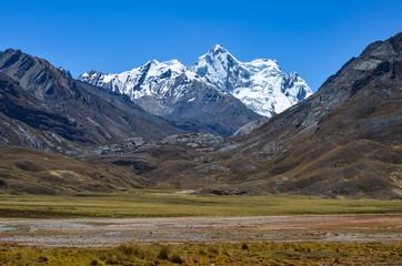 Nevado Pongos, 5680m, in the Cordillera Blanca on the road to Pastoruri glacier, near Huaraz, Peru