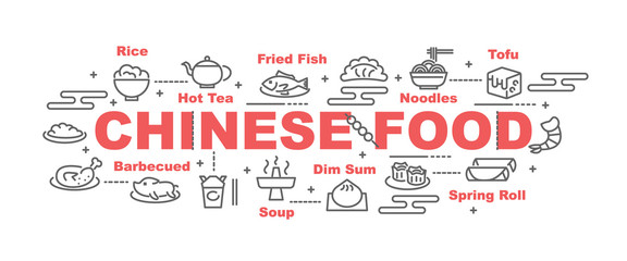 chinese food vector banner