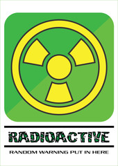 Green and Yellow Radioactive Sign