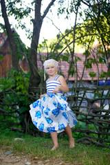 Girl preschool in the village