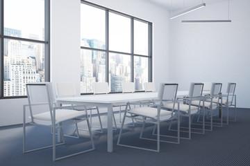 Loft meeting room interior, side view