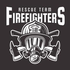 Firefighters vector emblem or t-shirt print